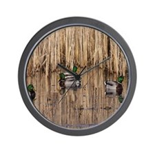 Mallards Mousepad Wall Clock