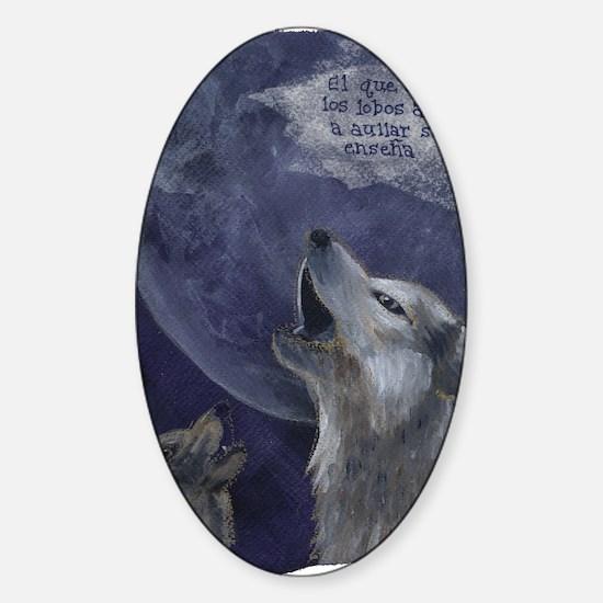 wolves_howl Sticker (Oval)