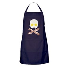 Breakfast Skull Apron (dark)