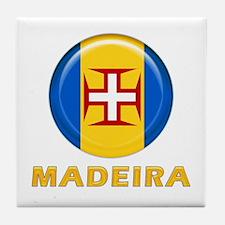 Madeira islands flag Tile Coaster