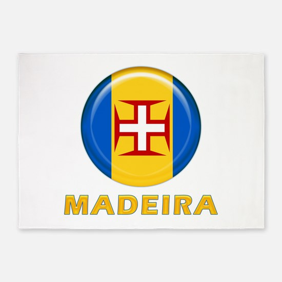 Madeira islands flag 5'x7'Area Rug