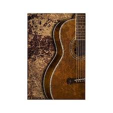Acoustic guitar journal Rectangle Magnet