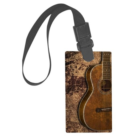 Acoustic guitar journal Large Luggage Tag