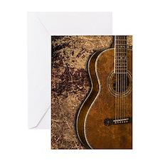Acoustic guitar journal Greeting Card
