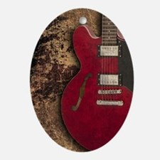 Electric guitar journal Oval Ornament