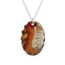 Electric guitar journal -strat Necklace Oval Charm