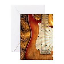 Electric guitar journal -strat- stra Greeting Card