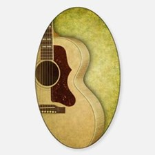 Acoustic guitar journal Decal