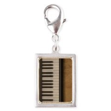 Piano music journal Silver Portrait Charm