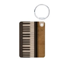 Piano music journal Keychains