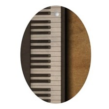 Piano music journal Oval Ornament