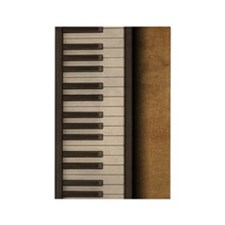 Piano music journal Rectangle Magnet