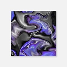 "Crazy Purple Abstract Art Square Sticker 3"" x 3"""