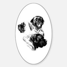 Charcoal 25 Oval Decal