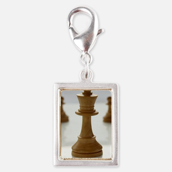 chess Silver Portrait Charm