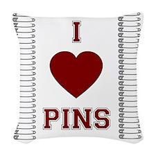pinning_orig Woven Throw Pillow