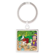 teaparty Square Keychain