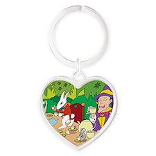 teaparty Heart Keychain