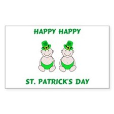 Happy St. Patrick's Day Rectangle Decal