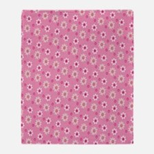 Daisies on Pink Throw Blanket