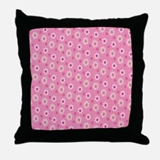 Daisies on Pink Throw Pillow