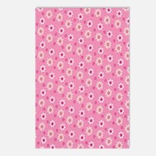 Daisies on Pink Postcards (Package of 8)