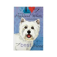 westie-slider1 Rectangle Magnet