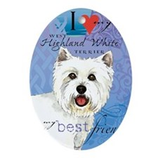 westie-slider1 Oval Ornament