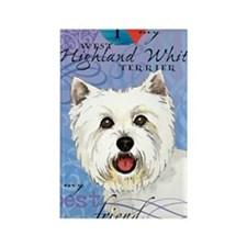 westie-iPad Rectangle Magnet