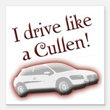 "cullentilt Square Car Magnet 3"" x 3"""