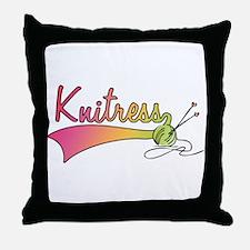 Knitress Throw Pillow