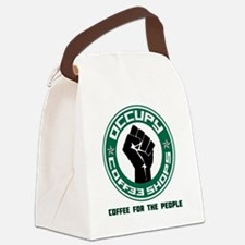 occupy coffee shops Canvas Lunch Bag