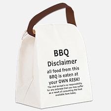 BBQ apron disclaimer black cp Canvas Lunch Bag
