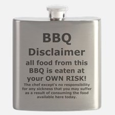 BBQ apron disclaimer black cp Flask