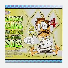 crazy-12-frontcover Tile Coaster