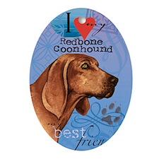 redbone-nook Oval Ornament
