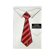 Future Missionary Tag Red Tie Rectangle Magnet