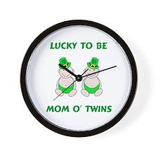 Mom O' Twins Wall Clock