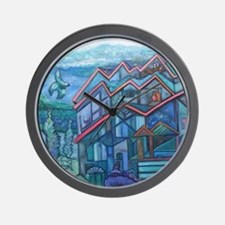 House that Chirp Built Wall Clock