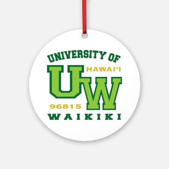 UWaikiki-10x10shirt Round Ornament