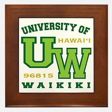 UWaikiki-10x10shirt Framed Tile