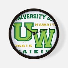 UWaikiki-10x10shirt Wall Clock