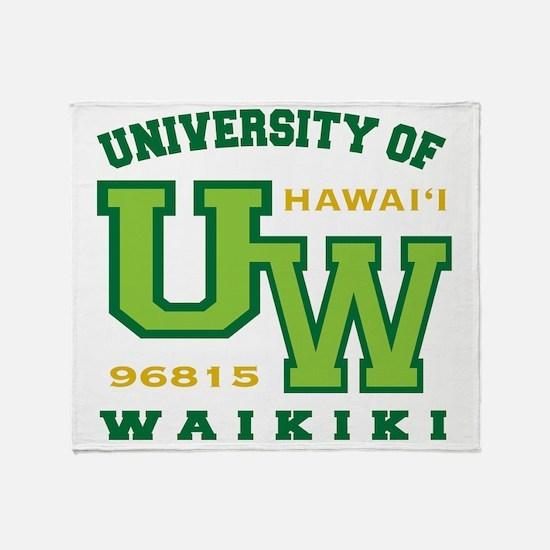 UWaikiki-10x10shirt Throw Blanket