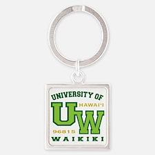 UWaikiki-10x10shirt Square Keychain
