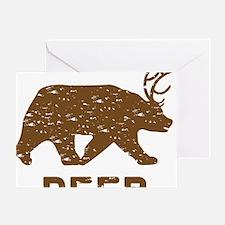 Bear + Deer = Beer Greeting Card
