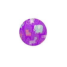 Orange Medium Animals, Organic Safari  Mini Button
