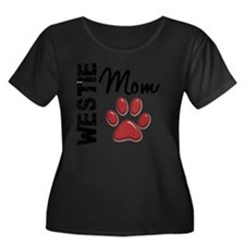 D Westie Women's Plus Size Dark Scoop Neck T-Shirt
