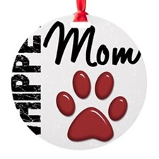 D Whippet Mom 2 Ornament