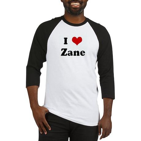 I Love Zane Baseball Jersey