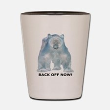 Big Back Off Now 2 Shot Glass